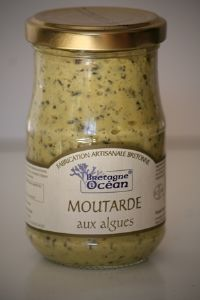 MOUTARDE AUX ALGUES MARINES.<BR> Pot de 200 g.
